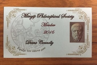 Diane Connolly's 2016 'Minyip Philosophical Society' membership card