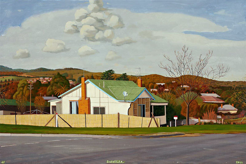 David Frazer painting of Jim Williams' house